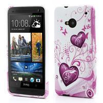 Gelové pouzdro pro HTC one M7- dvě srdce