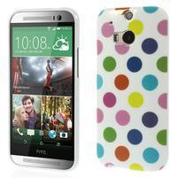 Gelové-PUNTÍKY pouzdro pro HTC one M8- bílobarevné