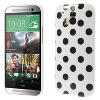 Gelové-PUNTÍKY pouzdro pro HTC one M8- černé