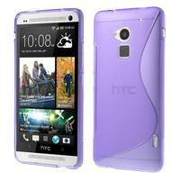 Gelové S-line pouzdro na HTC One Max- fialové