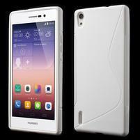 Gelové S-line pouzdro na Huawei Ascend P7- bílé