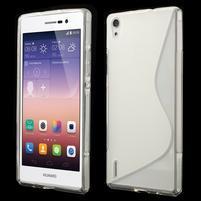 Gelové S-line pouzdro na Huawei Ascend P7- transparentní