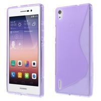 Gelové S-line pouzdro na Huawei Ascend P7- fialové