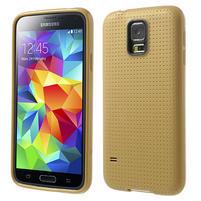 Gelové pouzdro na Samsung Galaxy S5- zlaté