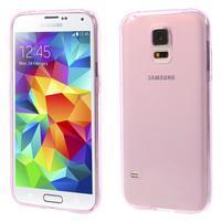 Gelové ultraslim pouzdro na Samsung Galaxy S5- růžové