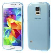 Gelové ultraslim pouzdro na Samsung Galaxy S5- modré