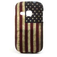 Gelové pouzdro na Samsung Galaxy Young S6310- USA vlajka