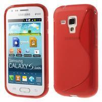 Gelové S-line pouzdro pro Samsung Trend plus, S duos- červené