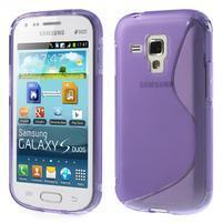 Gelové S-line pouzdro pro Samsung Trend plus, S duos- fialové