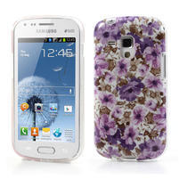 Gelové pouzdro na Samsung Galaxy Trend, Duos- fialové květy