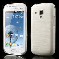 Kartáčované pouzdro na Samsung Galaxy Trend, Duos- bílé