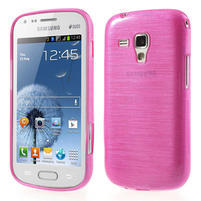 Kartáčované pouzdro na Samsung Galaxy Trend, Duos- růžové