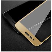 Fixační celoplošné tvrzené sklo na Honor 8 Pro - zlatý lem