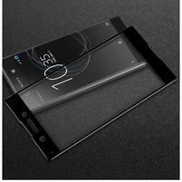 GT fixační celoplošné tvrzené sklo na Sony Xperia XA1 - černý lem