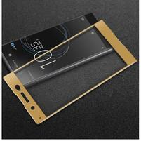 GT fixační celoplošné tvrzené sklo na Sony Xperia XA1 Ultra - zlatý lem