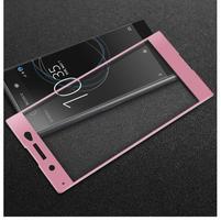 GT fixační celoplošné tvrzené sklo na Sony Xperia XA1 Ultra - růžový lem