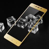 Highlux fixační celoplošné tvrzené sklo na Xiaomi Redmi 4 - zlatý lem