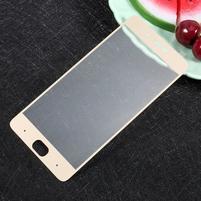 Temper celoplošné tvrzené sklo na Xiaomi Mi5s - zlatý lem