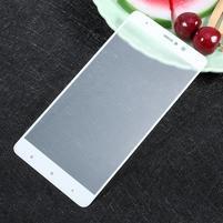 Temper celoplošné fixační sklo na Xiaomi Mi5s Plus - bílý lem