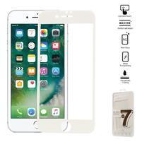 GT celoplošné fixační tvrzené sklo na iPhone 7 - bílé