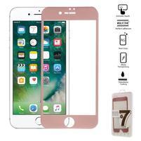 GT celoplošné fixační tvrzené sklo na iPhone 7 - růžovozlaté
