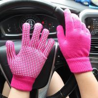 GX protiskluzové rukavice - rose