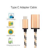 GX7 redukční tkaný kabel USB Type-C na USB 3.0 - zlatý