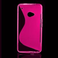 Gelové S-line pouzdro pro HTC one M7- růžové