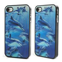 3D pouzdro na iPhone 4 4S - delfín