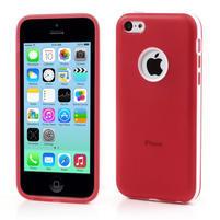Gelové rámové pouzdro pro iPhone 5C- červené
