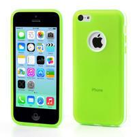 Gelové rámové pouzdro pro iPhone 5C- zelené