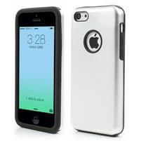 Gelové metalické pouzdro pro iPhone 5C- bílé