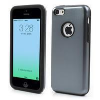 Gelové metalické pouzdro pro iPhone 5C- šedé