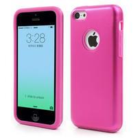 Gelové metalické pouzdro pro iPhone 5C- růžové