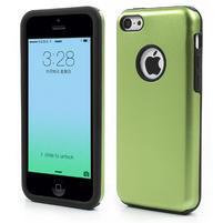 Gelové metalické pouzdro pro iPhone 5C- zelené