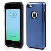 Gelové metalické pouzdro pro iPhone 5C- modré