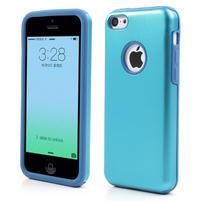 Gelové metalické pouzdro pro iPhone 5C- světlemodré