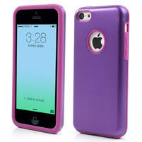 Gelové metalické pouzdro pro iPhone 5C- fialové
