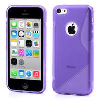 Gelové S-line pouzdro pro iPhone 5C- fialové