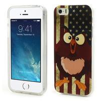 Gelové pouzdro na iPhone 5, 5s- kuřecí americká vlajka