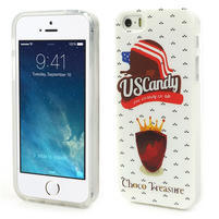 Gelové pouzdro na iPhone 5, 5s- US Candy