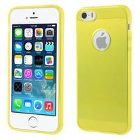 Gel-ultra slim pouzdro pro iPhone 5, 5s- žluté