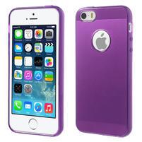 Gel-ultra slim pouzdro pro iPhone 5, 5s-fialové