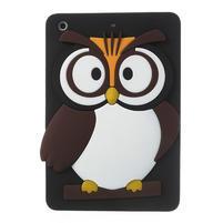 Silikonové pouzdro na iPad mini 2 - hnědá sova