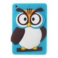 Silikonové pouzdro na iPad mini 2 - modrá sova