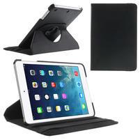 PU kožené 360 °  pouzdro pro iPad mini-černé