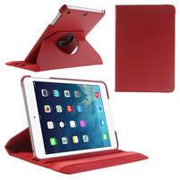 PU kožené 360 °  pouzdro pro iPad mini- červené