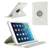 PU kožené 360 °  pouzdro pro iPad mini- bílé