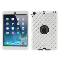 Hybridní kamínkové pouzdro pro iPad mini- bílé