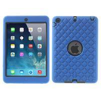 Hybridní kamínkové pouzdro pro iPad mini- modré
